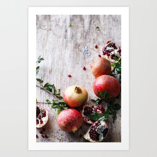 Pomegranate, pomegranates, holiday, Christmas, festive, food, red, green, fruit
