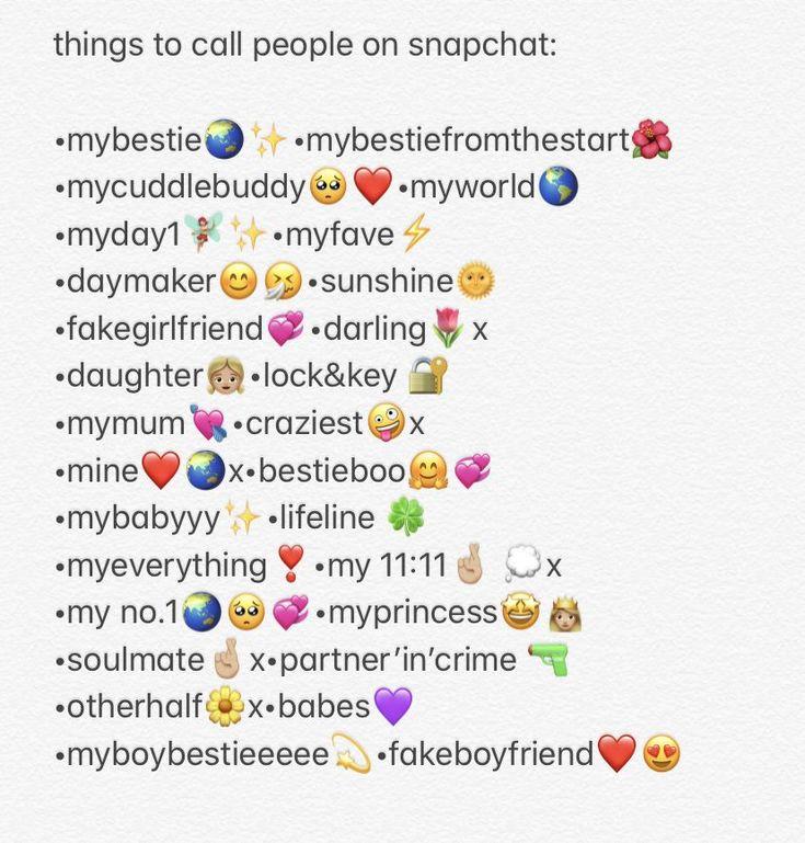 names for snapchat | Spitznamen für freunde, Instagram