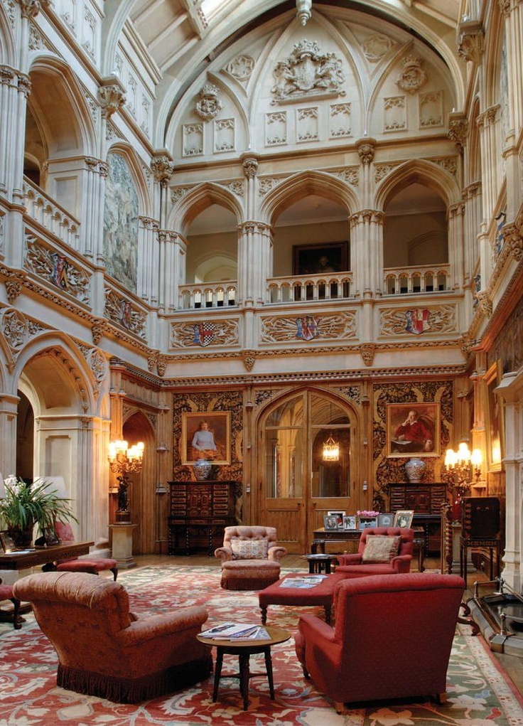 Interior of Highclere Castle, where Downton Abbey is filmed.