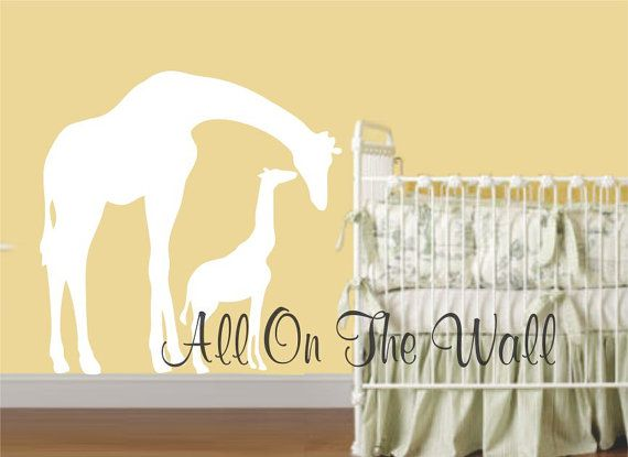 Items Similar To Giraffe Wall Decal Baby Nursery Animals Boy Girl Custom  Jungle Vinyl Decals Baby Shower Gift Idea On Etsy