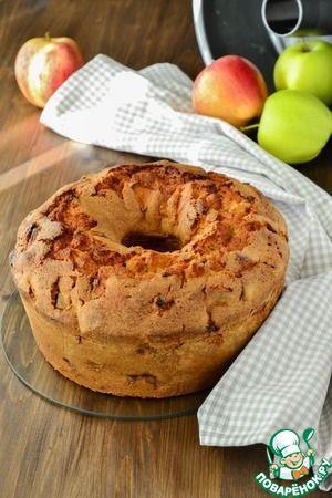 Нежный яблочный кекс