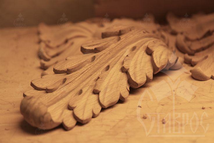 """""""Красота простых вещей"""" Резная накладка из дерева """"Акантовый лист"""" #дерево #резьба #декор #акант #лист #красивое #decor #wood #carving"""