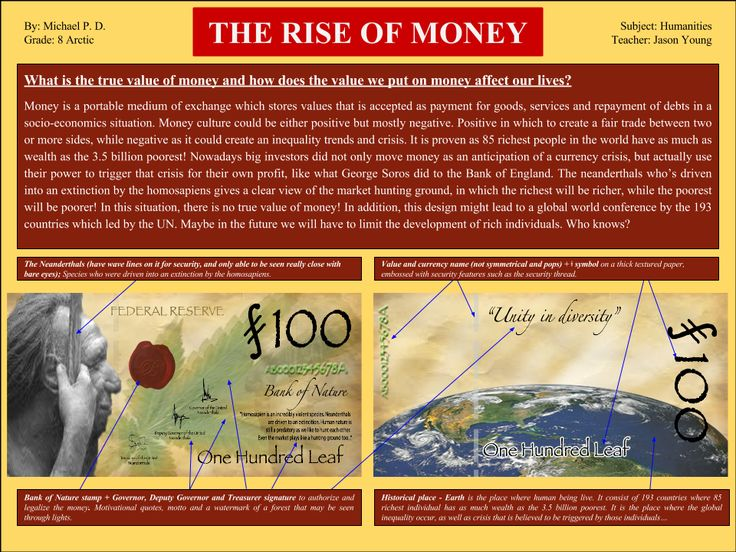 The 'Rise of Money'. A short understanding on how money works. The pros and cons. Money was actually value that was agreed. Without an agreement money is nothing. Check out  the VTS above... -Mike-