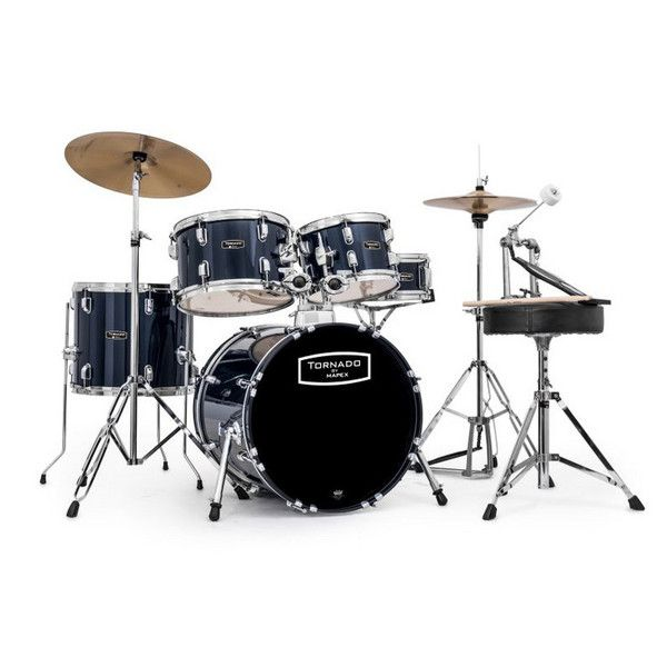 Mapex Tornado III Compact 18in Drum Kit, Blue at Gear4Music.com