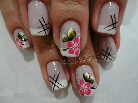 Resultado de imagen para diseños de uñas con flores