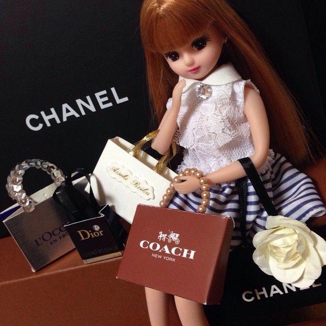 #リカちゃん #ショップ袋 #手作り #ブランド品似合う 絶対明日買い物する、、、
