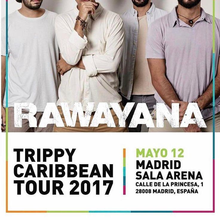 #Repost @elbombonmadrid with @repostapp  Pégate al #eurotrippycaribbeantour  @rawayana llega a España y se presenta el viernes 12 de mayo en la Sala Arena!! Las entradas a la ventahttp://bit.ly/2mqOA8B #rawayana  #madrid