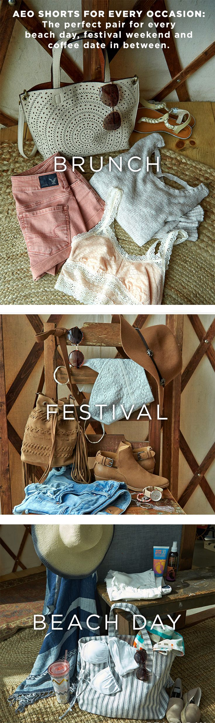 From Denim X Hi-Rise to Midi to Festival Shorties and more, we've got the perfect pair of shorts for every beach day, festival weekend and coffee date in between. Find your favorite fit at AE.com.