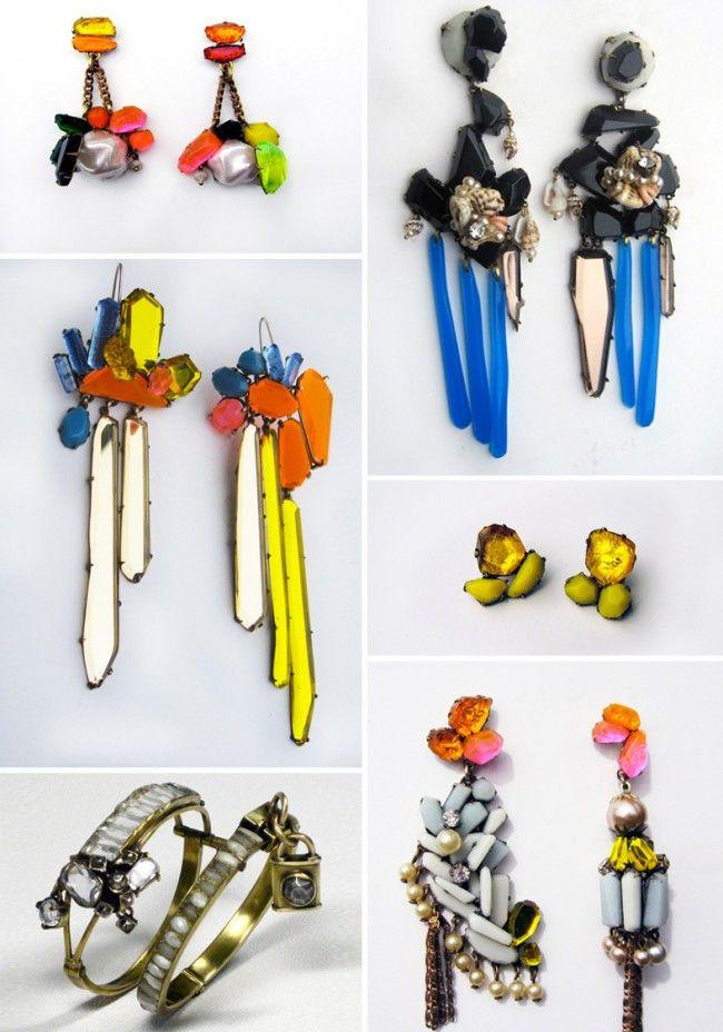 Amazing Nikki Couppee earings via the lovely Lifestyle Laundry blog