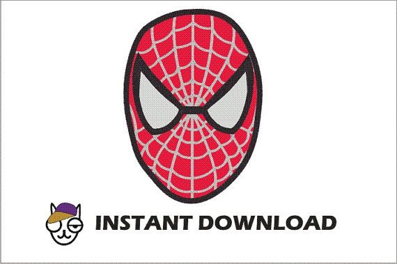 Applique Machine Embroidery Design Spiderman Mask by thecatshats, $4.00
