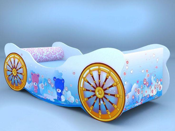 Детская кровать - карета мишки