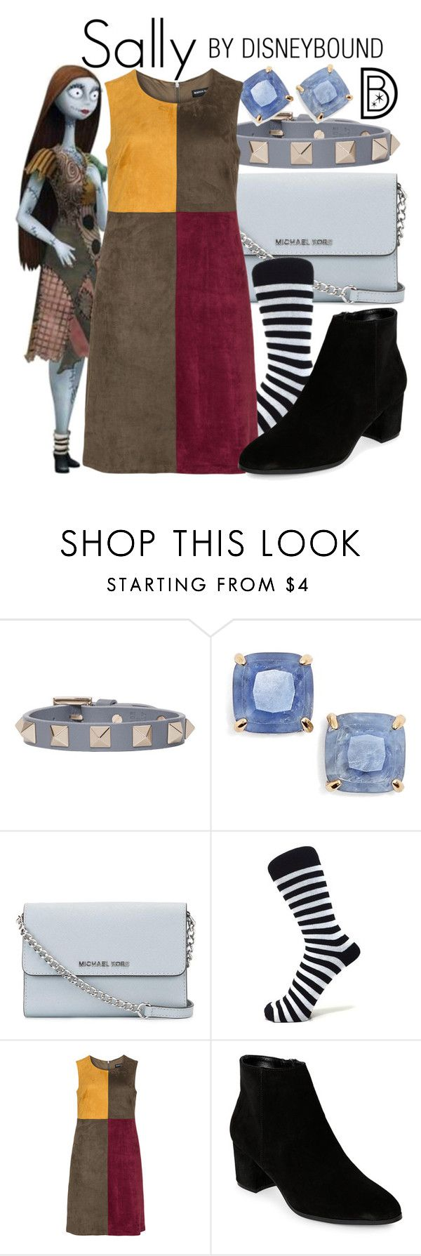 """Sally"" by leslieakay ❤ liked on Polyvore featuring Valentino, Kate Spade, MICHAEL Michael Kors, Manon Baptiste, Franco Sarto, disney, disneybound and disneycharacter"
