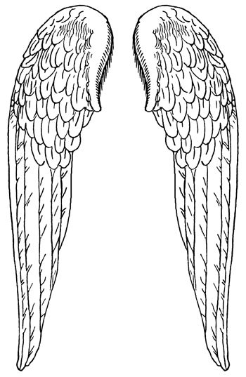 angel wings pattern template pin printable guitar template pdf page 2
