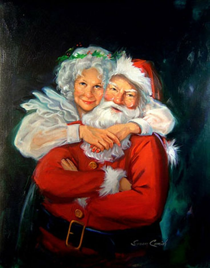 Santa and Mrs. Claus by Susan Comish