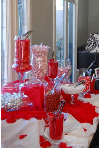 """Hi Chantal...wondering about red and white candy bar or candy favours and a chocolate fountain """"bar""""...just something to think about..."""