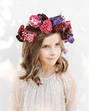 I love this floral crown, not sure how I will slip it into Alexis' Bat Mitzvah but I want to!!