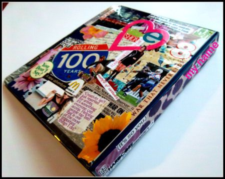 Decorate your binder for school using magazines
