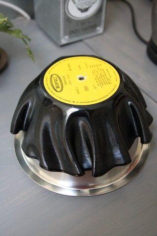 Vieux vinyles transformés en bols