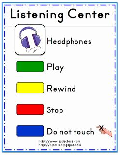 Listening Center Sign Freebie