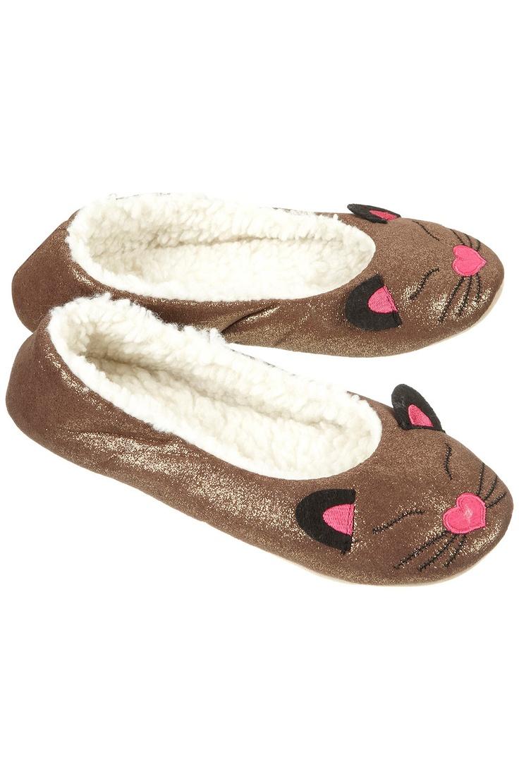 Topshop cat slippers <3