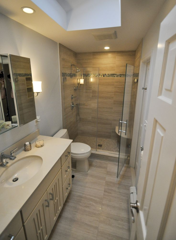 9x5 bathroom with stand up shower bathrooms pinterest bath house and basements for Standing shower bathroom ideas