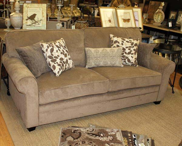 Corduroy couch with decorative pillows! | New home ...