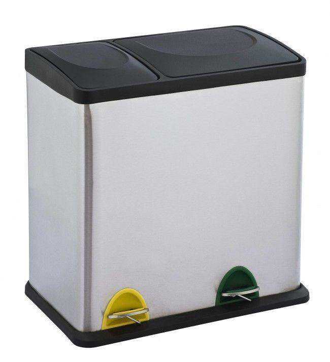 Recycling Duo waste bin 1224 Steeldesign