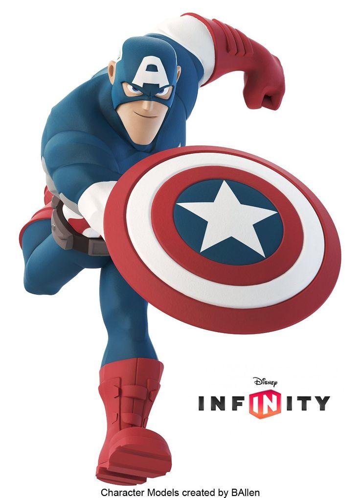 ArtStation - Captain America Disney Infinity, B Allen