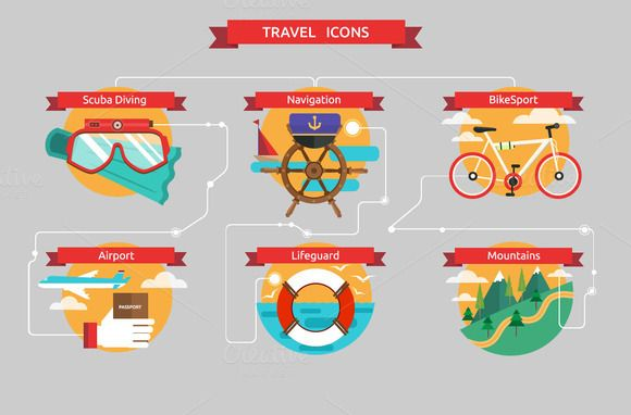 Check out Vector traveling icons by Dana Costin on Creative Market
