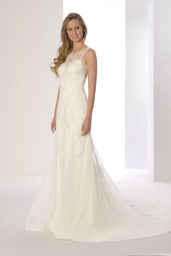 vestido de novia perla de innovias en tul bordado y transparencias