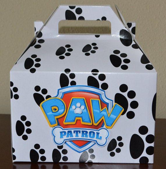 Paw Patrol large goodie bag box paw patrol party por HappyCraftyJoy