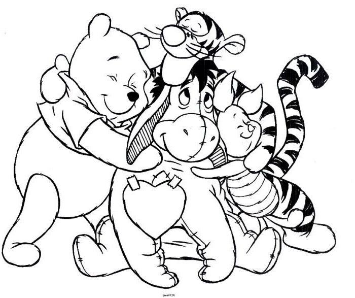 8 Fabuleux Coloriage Winnie Photos Cartoon Coloring Pages Bear Coloring Pages Disney Coloring Pages