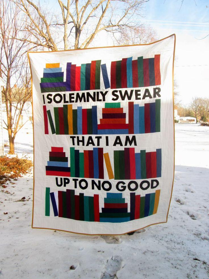 That's Sew Julie: Mischief Managed: A Book Quilt Finish