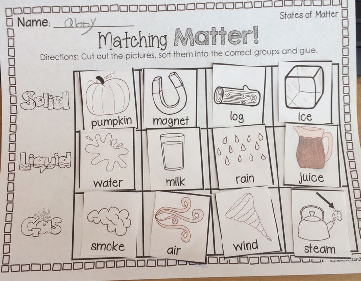 States of Matter FREEBIE! I used this as an assessment for my students and it…