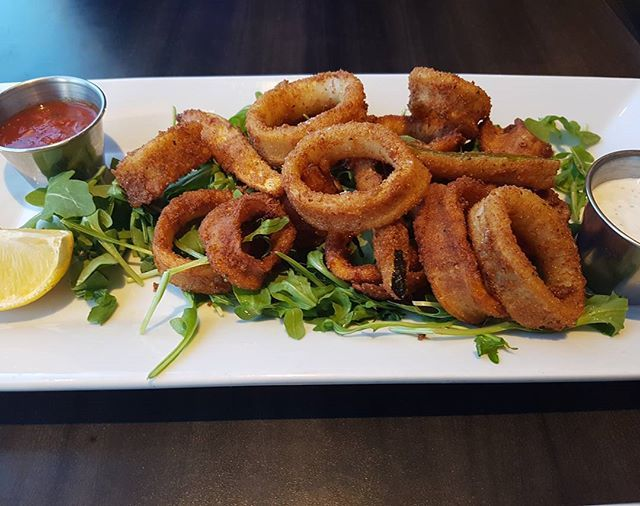 Fried Calamari with Chipotle Marinara.  Anniversary Dinner at Diana's Oyster Bar and Grill! And Home just in time for the Blue Jays game. I love my Wife! #anniversary #seafood #calamari #marinara #bluejays #baseball #restaurant #toronto #eats #mmmmm #food #igfood #cheflife #tofood #toreats #torontofood #tastyfood #6ix #6ixside  Yummery - best recipes. Follow Us! #tastyfood