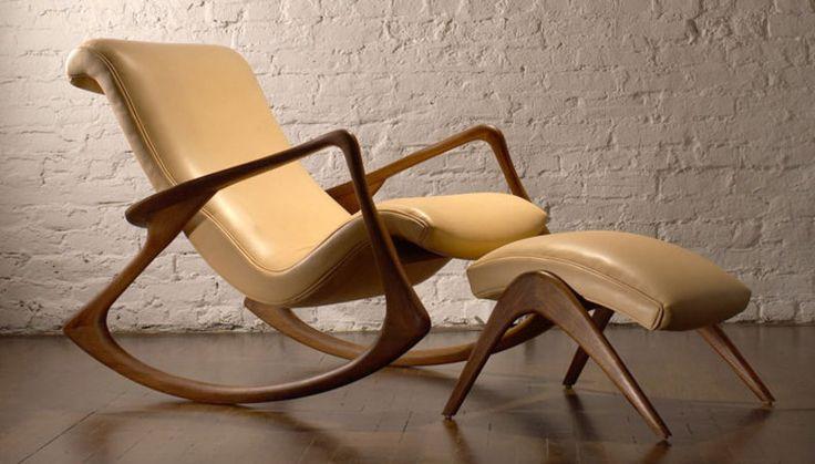 Contour Rocking Chair by Vladimir Kagan  #Vladimir_Kagan #Rocking_Chair