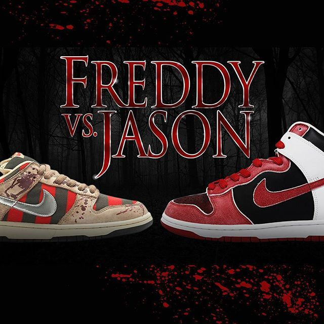 Freddy versus Jason...Place your bets. See our website for our pick. via SNEAKER FREAKER MAGAZINE OFFICIAL INSTAGRAM - Fashion  Advertising  Culture  Beauty  Editorial Photography  Magazine Covers  Supermodels  Runway Models