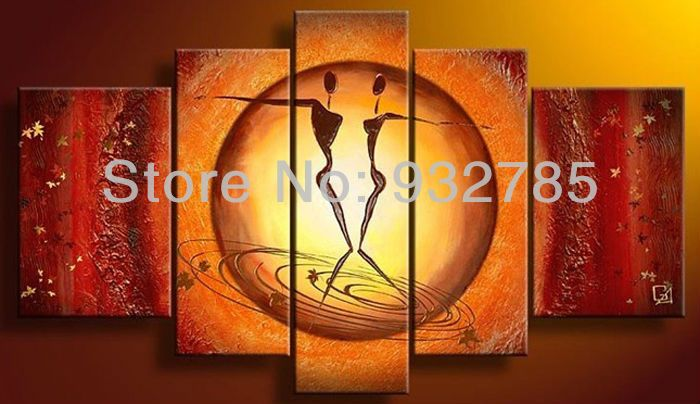 Handpainted Triptych Wall Painting