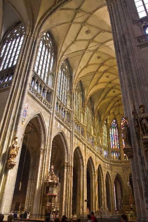 beautiful cathedral in Prague, Czech Republic