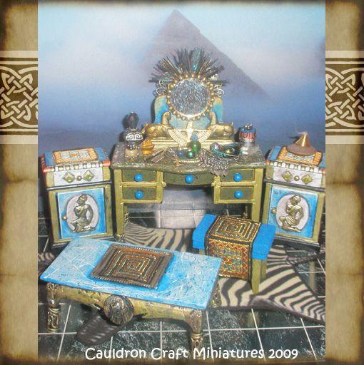 34 Best Miniature Egyptian Furniture Images On Pinterest