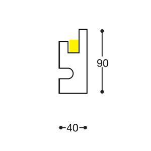 Prodotto: Veletta da incasso nel cartongesso a parete per l'alloggiamento di strip led per illuminazione indiretta e luce diffusa led Materiale: XPS (polistirene estruso) Rivestimento: bianco effetto gesso (resina a base di polvere di marmo bianco) Viene rasato e pitturato insieme al cartongesso con qualsiasi vernice per interno. Strip led non incluse   EL301 - profilo lineare per luce diffusa per parete o soffitto Dimensioni: Lunghezza: 1150 mm Larghezza massima vano per la strip led: 17 mm