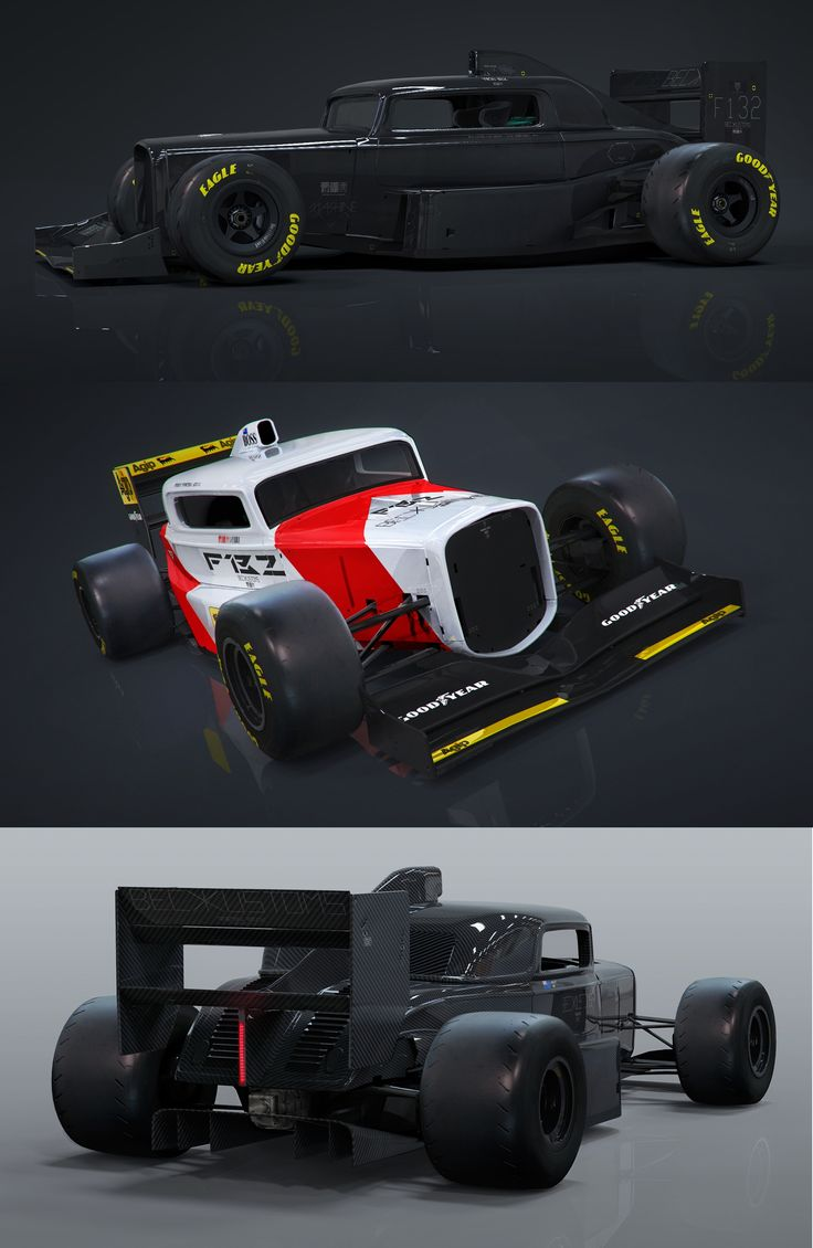 F132 Concept - Mash-up of a '32 Ford three-window coupe with F1 styling