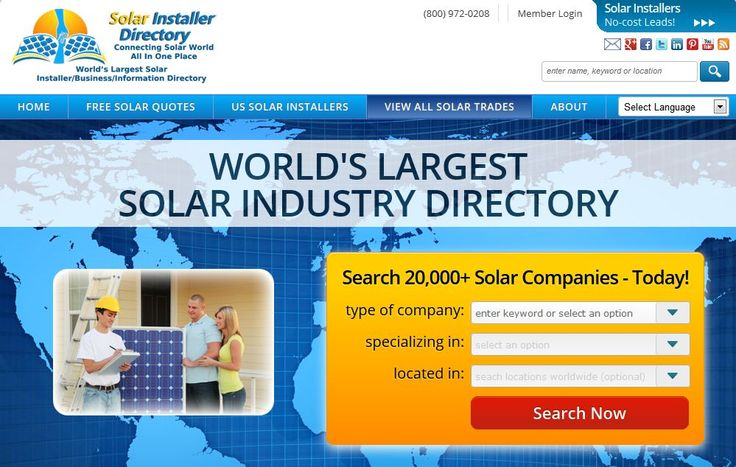 World's first free #solar installers profile/listing directory.
