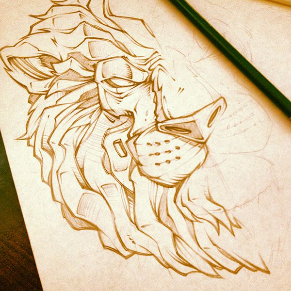 LUNCH SCRIBBLES 3 by Absorb81 - Craig Patterson, via Behance