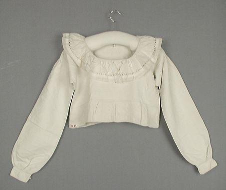 Opplöt i linne och bomull, Skytts, mitten av 1800-talet. Trelleborgs Museum, nr. TM.1089