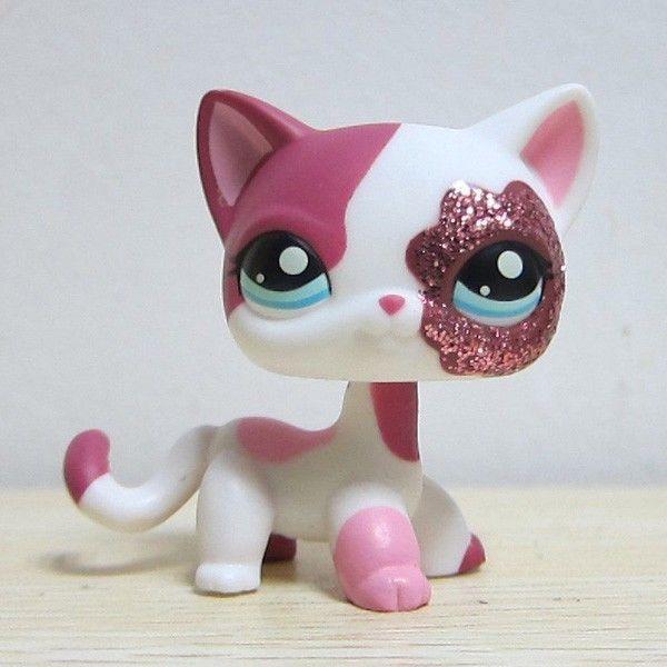 Hasbro Littlest Pet Shop Collection LPS White Pink Standing Cat Sparkle Glitter | Toys & Hobbies, Preschool Toys & Pretend Play, Littlest Pet Shop | eBay!