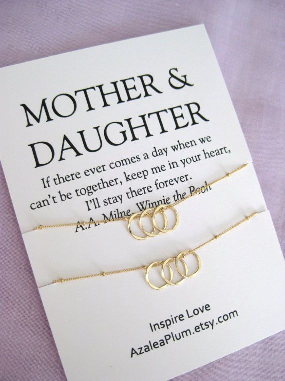 Mother Daughter Jewelry Birthday Gift For Mom 50th