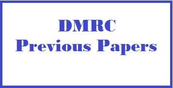 DMRC previous year exam Question paper