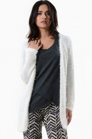 Lorinda Long Sleeve Knit Cardigan in Cream