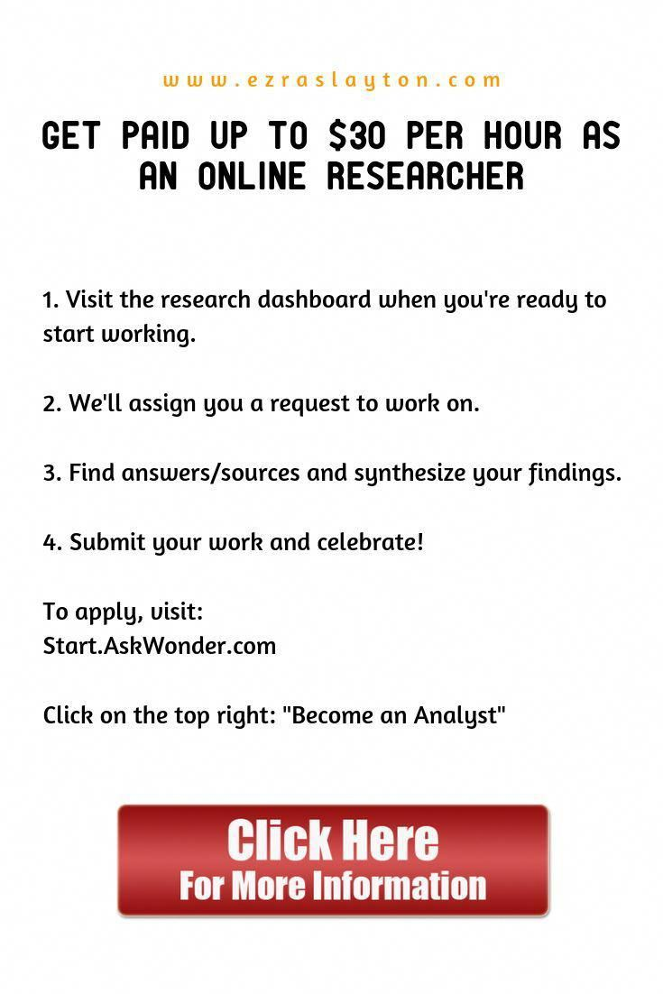 earn money from home by doing simple research. repin this for others so that the…